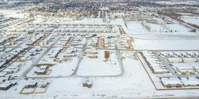 Southridge Aerial Shot, Brandon Manitoba, J&G Homes